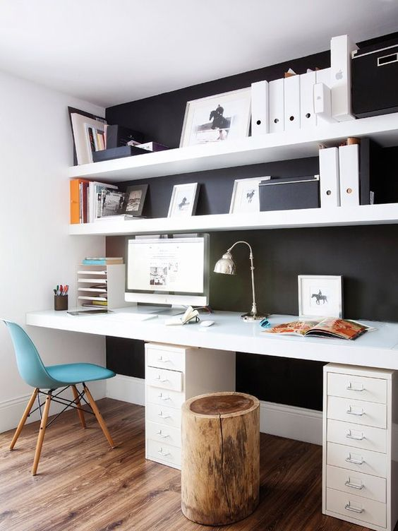 home office Monochrome Clean Lines