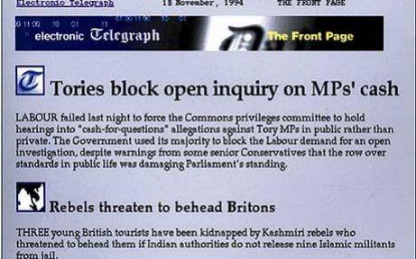 The Telegraph Webpage World Wide Web