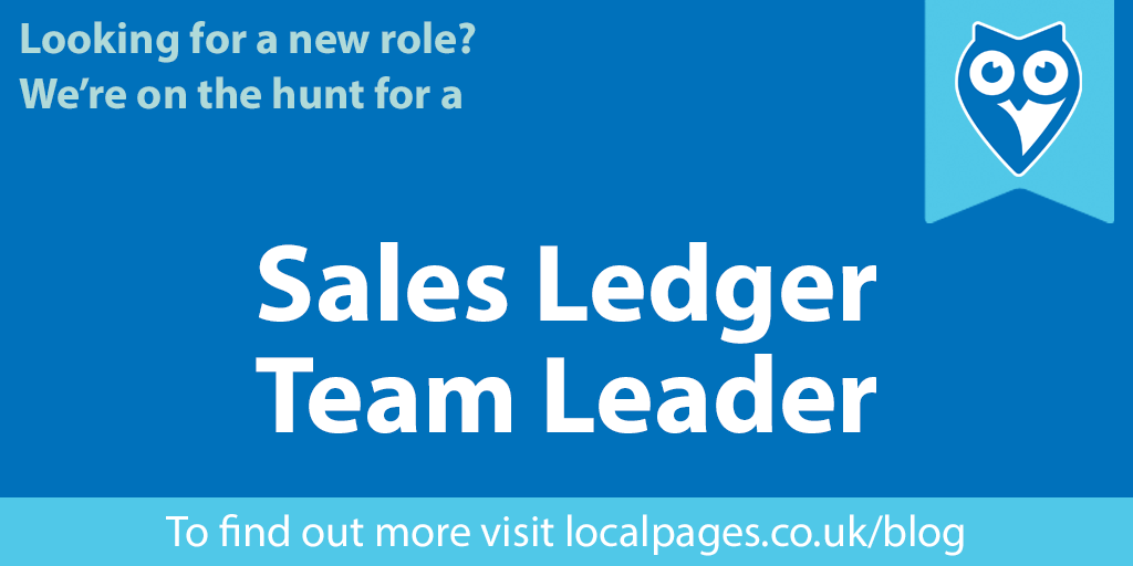 We're Hiring! Sales Ledger Team Leader Needed.